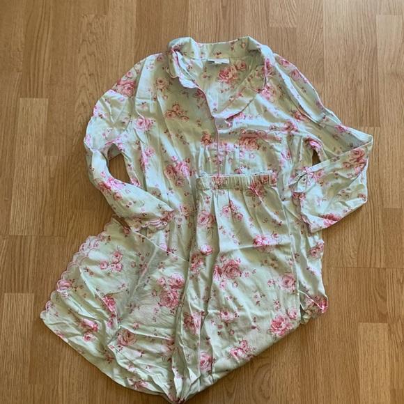 Red Scotty Medium Charter Club Womens Lace-Trimmed Cotton Bikini